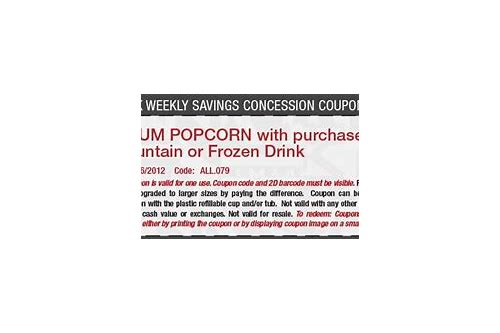 cinemark popcorn and drink coupons