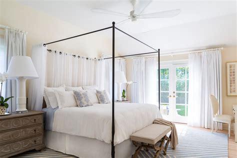 Patterned Drapery Panels East Hampton Beach Cottage Beach Style Bedroom New