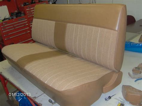 reupholster bench seat reupholstering a bench seat picture heavy gm square