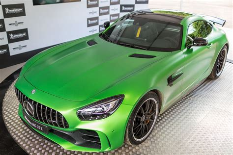 green mercedes the shockingly green mercedes amg gt r is a track