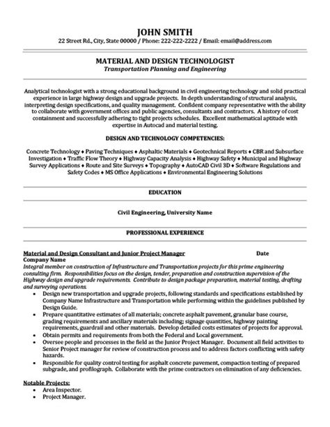 Resume Templates 101 by Material And Design Technologist Resume Template Premium