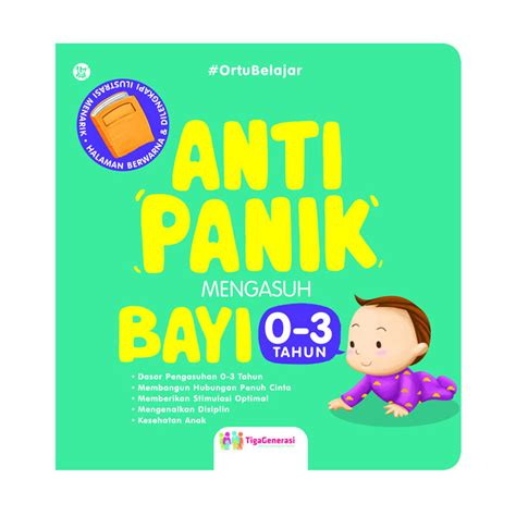 jual buku anti panik mengasuh bayi 0 3 tahun by tigagenerasi buku motivasi harga