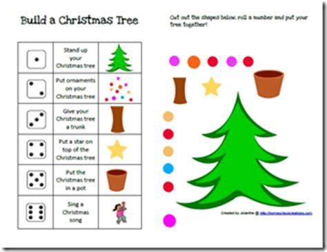 printable dice christmas game free homeschool printables build a christmas tree game