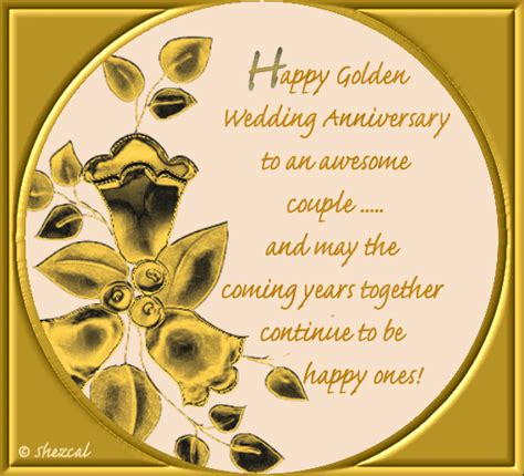 Golden Jubilee Wedding Anniversary Wishes For Parents by Golden Anniversary Free To A Ecards