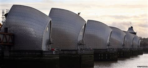 thames barrier news how does the thames barrier stop london flooding bbc news