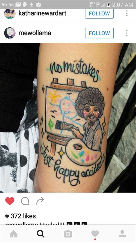bob ross tattoo 762 best images about on