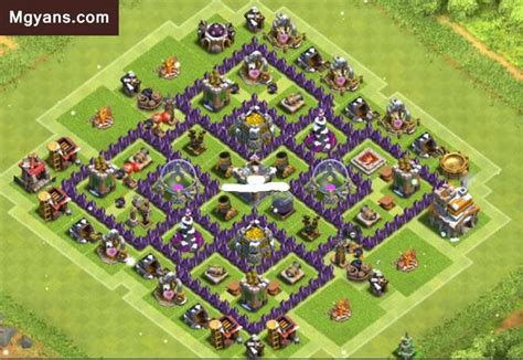 layout base coc unik th7 farming base design layout 1 m gyans for coc clash