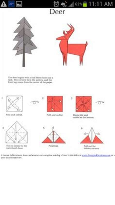 Deer Origami - origami deer craft ideas
