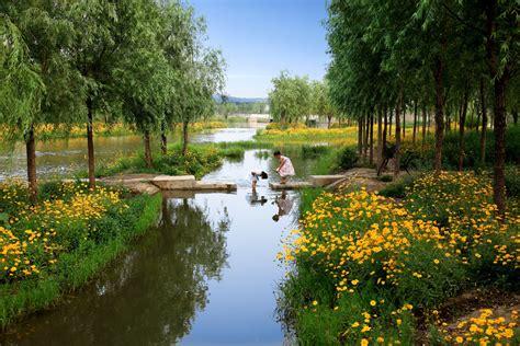 Landscape Architecture Ecological Restoration Sanlihe Ecological Corridor By Turenscape 171 Landscape