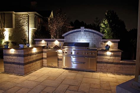 Outdoor Kitchen Lighting Fixtures 10 Outdoor Kitchen Designs Sure To Inspire Unilock