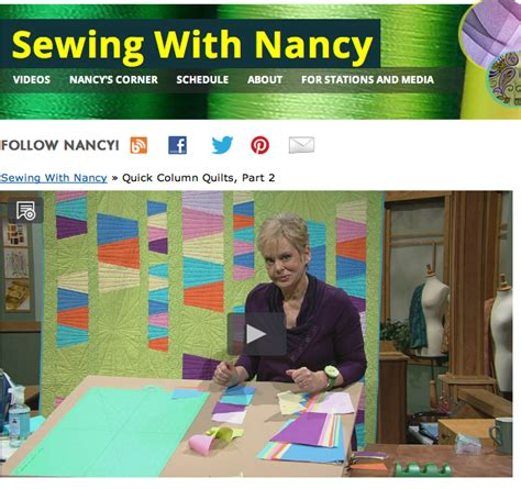 Sewing With Nancy Quilts by Create A Modern Tumbler Quilt Using Nancy Zieman S