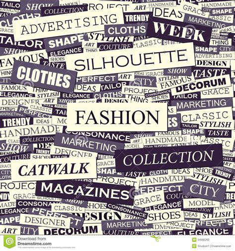 related words fashion stock photo image 34595260