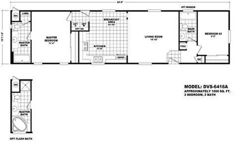 Section Manufactured Homes by Floor Plan Dvs 6416a Durango Value Series Single Section