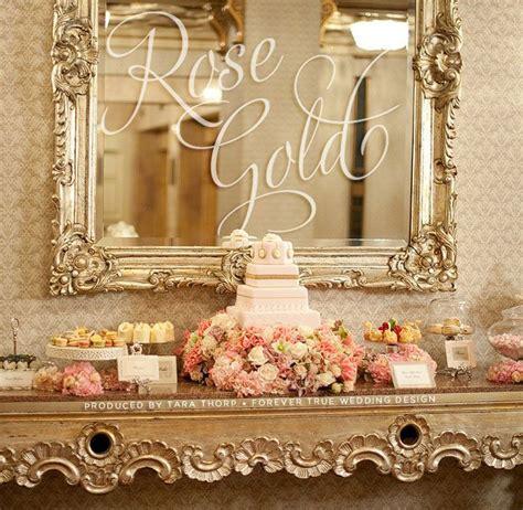 theme rose gold rose gold dessert table rose gold wedding pinterest
