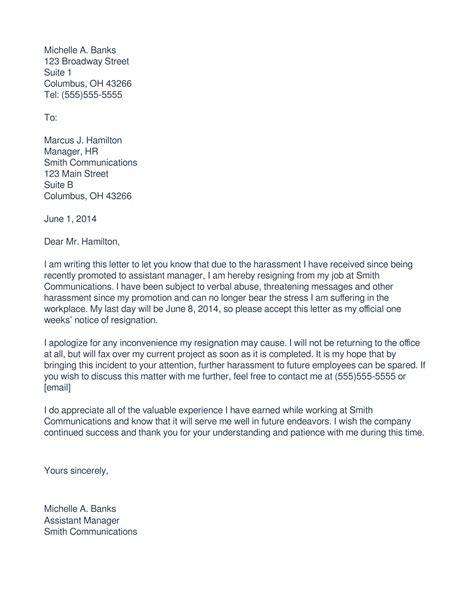 5 immediate resignation letter exles pdf