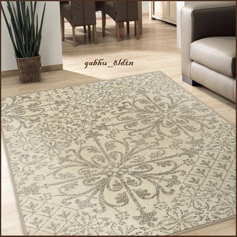 Area Carpet Rugs Rugs Area Rugs Carpet Flooring Area Rug Floor Decor Large Ivory Rug Ebay