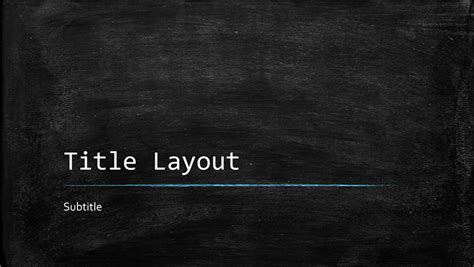 Chalkboard Education Presentation Widescreen Blackboard Powerpoint Template