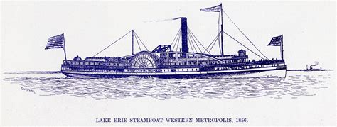 steamboats and sailors of the great lakes great lakes books series books view lake erie steamboat western metropolis 1856