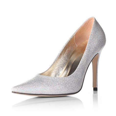 High Heels Corpus Silver sparkling closed toes high heel silver wedding prom shoes 2012 flowerweddingshoes