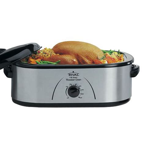 Rival Roaster Oven With Buffet Server Rival 176392 18qt Stainless Roaster With Buffet Server