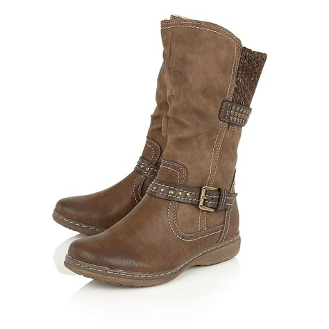 mid calf boots lotus hilarie mid calf boots in brown lyst