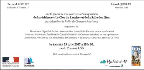 Exemple De Lettre D Invitation Inauguration Modele Invitation Maire Inauguration Document