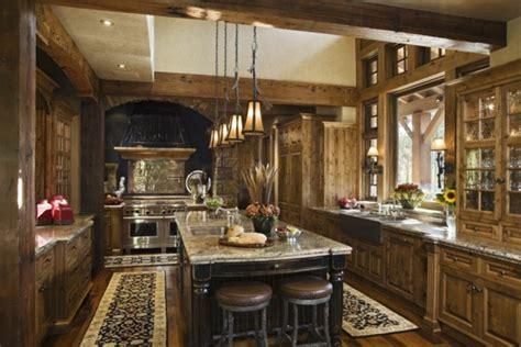 rustikale küchen wohnzimmereinrichtung w 228 nde holz