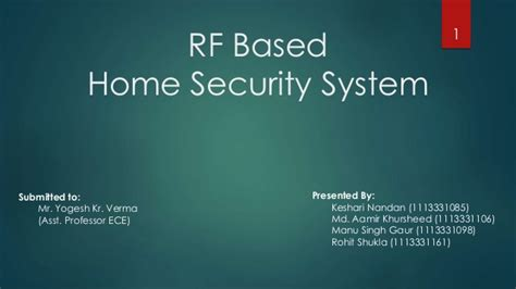 rf based hoome security system