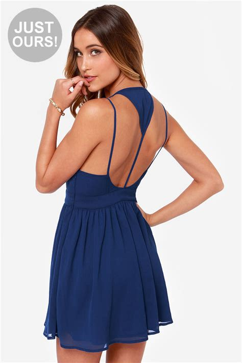 Lulus Exclusive Offer Get 15 On Fab Clothes by Blue Dress Backless Dress 42 00