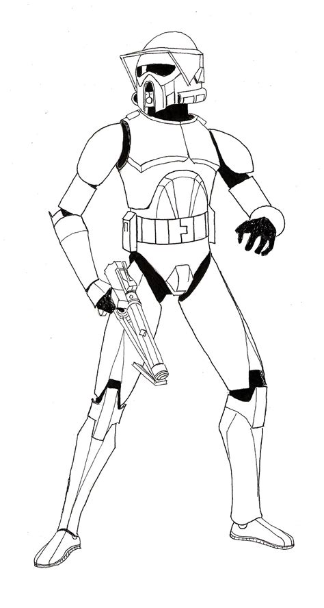 coloring pages of clone troopers the arf trooper project 1 lineart by zaegandun on deviantart