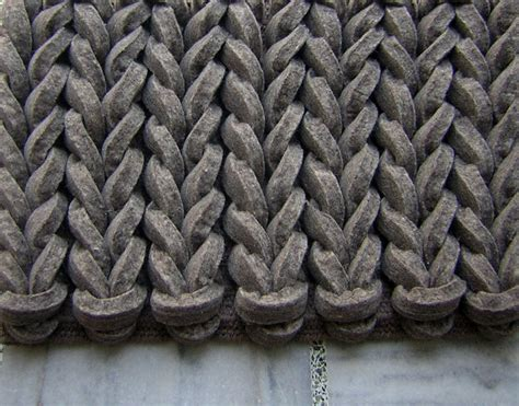 felt rug braided gray brown from the felt rugs collection at