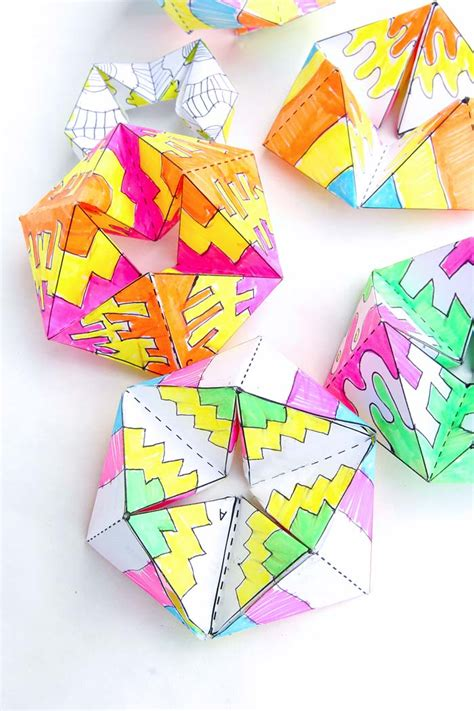 How To Make Easy Paper Toys - paper flextangles babble dabble do