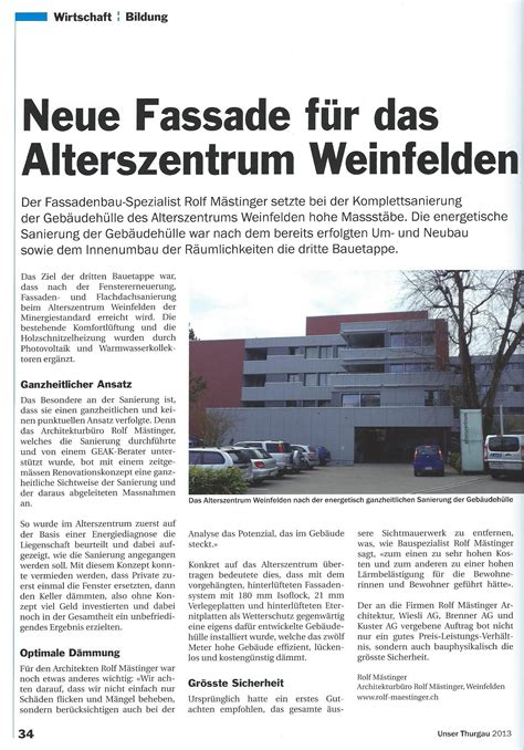 roma architekten news roma architektur ag
