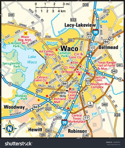 map texas waco waco texas map map3