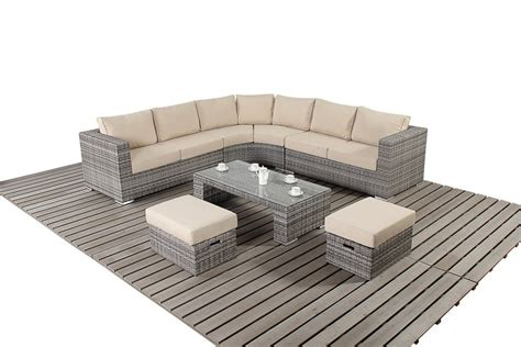 rattan curved sofa rustic gray rattan curved corner sofa oxf direct the