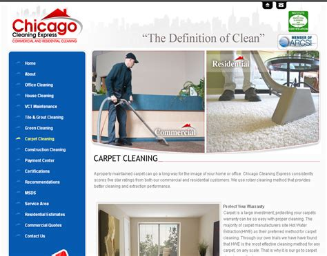 professional website designer cleaning company website