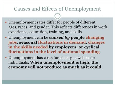 The Causes And Effects Of Essay by Negative Effects Of Unemployment Es