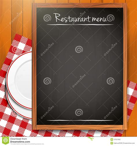 empty blackboard restaurant menu background stock