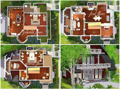the sims 3 house plans mod the sims classic design a flowery garden for vacation home two decorate plans