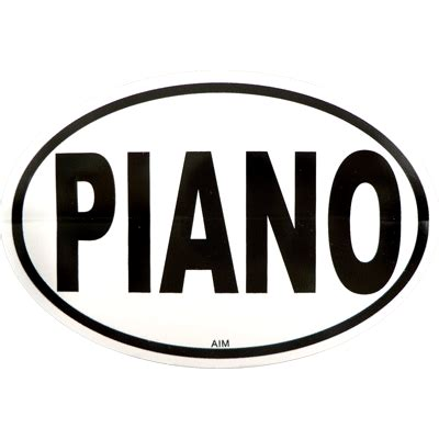 MUSIC GIFTS: Piano: Piano Oval Decal