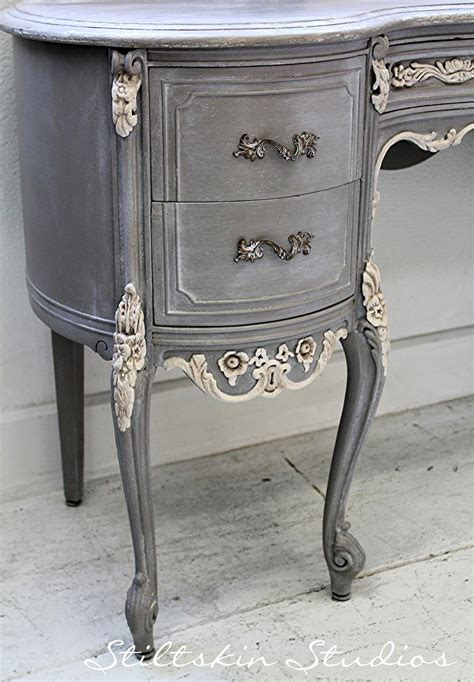 furniture paint stiltskin studios weathered grey french desk always love