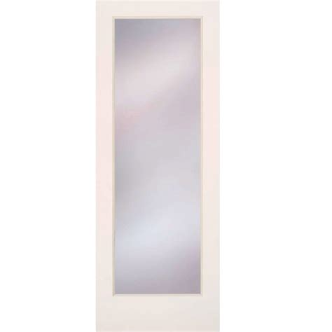 frosted interior doors home depot feather river doors 36 in x 80 in privacy smooth 1 lite