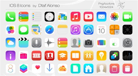 design icon iphone ios 8 icons by dtafalonso deviantart com on deviantart
