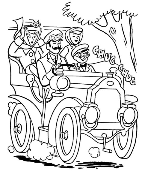 Grandparents Day Coloring Pages   Grandpa's Old Car