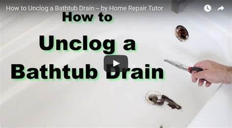 How To Unclog Hair From A Bathtub Drain How To Unclog A Bathtub Drain With Hair Rooter Guard
