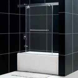 4 panel trackless bathtub shower door bathtub doors