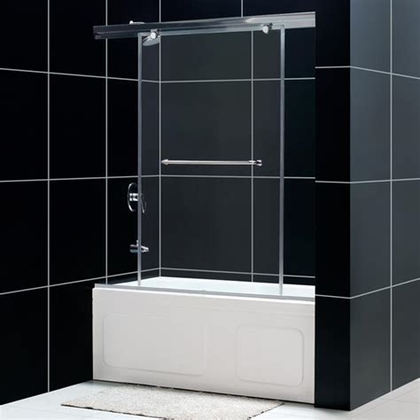 bathtub sliding shower doors dreamline showers torero sliding tub door