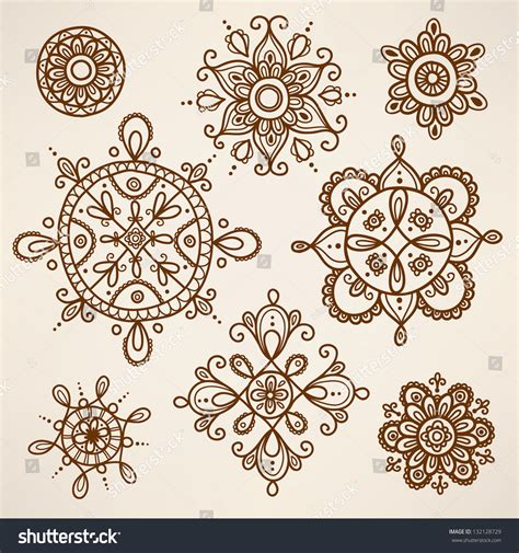henna tattoo vector henna elements stock vector 132128729