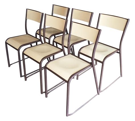 French Vintage Industrial Dining Chairs Set Of 6 Chairish Vintage Industrial Dining Chairs
