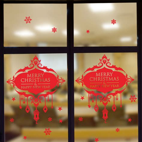 new year wall decoration new year decoration snowflake wall sticker